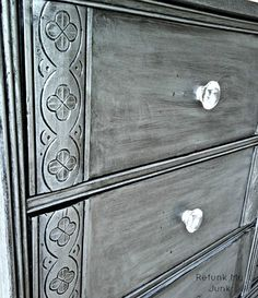 Metallic Silver Dresser {Before & After} - Refunk My Junk: Revamp, Repurpose, Refunk.