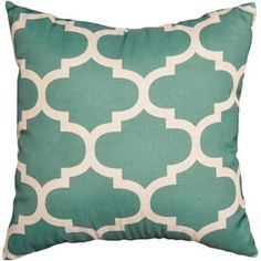Mainstays Fretwork Decorative Pillow, Teal