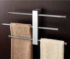 3-Rail Chrome Towel Rack 7630 by Gedy contemporary towel bars and hooks