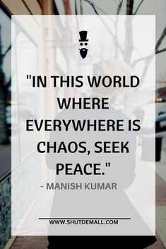 How to Maintain Peace in Your Life?
