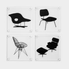 Eames® Chair Coasters | MoMAstore.org