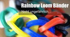 Aufgepasst bei Rainbow Looms – Nichts für Kleinkinder  (ck) – Sie sind der Trend 2014 – bunte Gummibänder oder eben Rainbow Looms - aber nicht ganz ungefährlich...  http://www.cleankids.de/2014/08/19/aufgepasst-bei-rainbow-looms-nichts-fuer-kleinkinder/49129