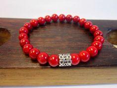 Red Coral Bracelet Red Coral Charm Bracelet Meditation Yoga Red Bracelet Therapy Bracelet Energy Bracelet Root & Sacral Chakra Bracelet