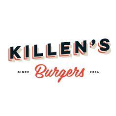 Killen's Burgers logo. || Jody Worthington Graphic Design. #logo #burgers