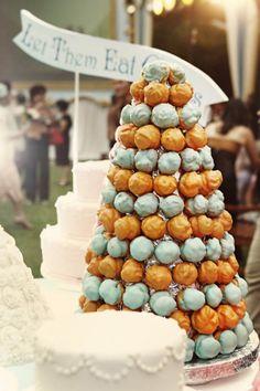 Profiterole Cake - interesting with 2 colours