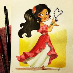 Princess Elena of Avalor. The new Hispanic princess. Appearance on Sofia the First and later later on her own show.