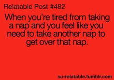 naps can is so exhausting :)