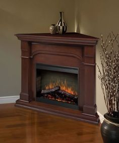The Dimplex Oxford Corner Electric Fireplace offers a beauty of superior furniture and the glow and warmth of a first-rate fireplace. If limited space is an issue in your home , might we recommend this types of fireplace.