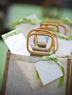 Beautiful welcome bags