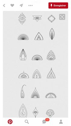 Amazing tattoo patterns and designs Mini Tattoos, Small Tattoos, Henna Doodle, Small Mandala Tattoo, Jagua Henna, Tattoo Signs, Plant Tattoo, Minimal Tattoo, Piercing Tattoo