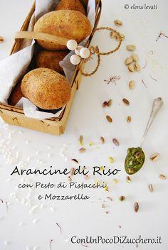 rice balls with pistachio pesto & mozzarella