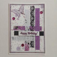 Birthday card design for tween/teenage females.