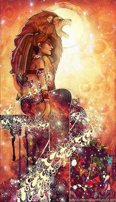 Pin by psy art beauty mind on psy art & beauty mind in 2019 Psy Art, Spirited Art, Lion Art, Goddess Art, Zodiac Art, Visionary Art, Psychedelic Art, Art Pictures, Art Girl