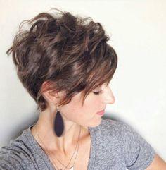 Stylish Wavy & Curly Pixie Hairstyle
