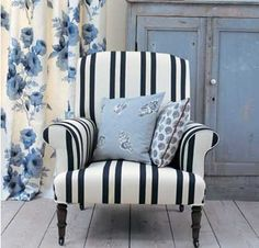 Stripes and patterns make a fun combination. Soft Furnishings