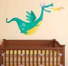 Dragon Wall Decal. Perhaps a fairy tale themed playroom?