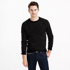 Tall lambswool bird's-eye sweater