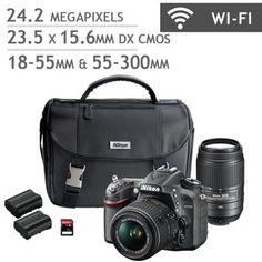 Nikon D7200 DSLR Camera 2 Lens Bundle