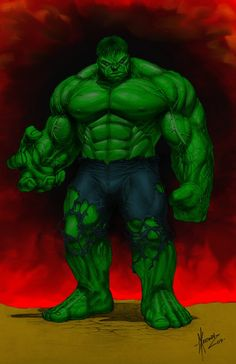 My coloring of Dale Keown's hulk, using gimp 2.6. This is actually my first attempt using gimp. I think it turned out ok.