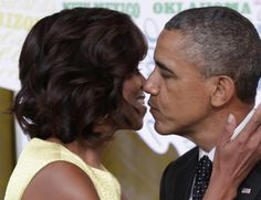 US President Barack Obama and the First Lady Michelle Obama