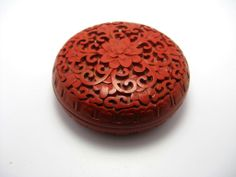 Antique Chinese Cinnabar Vase   Beautiful Antique Chinese Small CINNABAR Dish Bowl with LID from ...