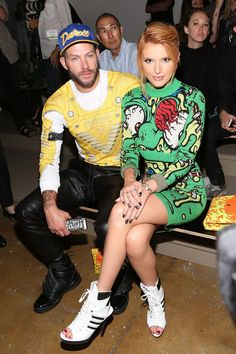 Johnny Wujek and Bella Thorne attend the Jeremy Scott show at Mercedes-Benz Fashion Week Spring 2015 at Milk Studios on September 10, 2014 in New York City. (Photo by Taylor Hill/FilmMagic