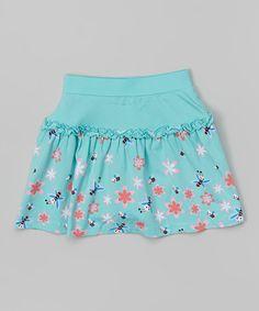 Look at this #zulilyfind! Blue Portofino Ruffle Skirt - Toddler & Girls by Nina & Nelli #zulilyfinds
