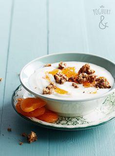 Yoghurt & Aprikos & Rugbrødkrutonger - Se flere spennende yoghurtvarianter på yoghurt.no - Et inspirasjonsmagasin for yoghurt.