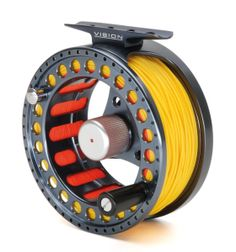 The Vision Nite Fly Reel is the hi tech brother of the proven Vision GT Fly Reel. The Vision Nite Fly Reel offers a Larger arbour for fast retrieve without the usual increase Fly Fishing Tackle, Fly Fishing Rods, Trout Fishing, Fishing Reels For Sale, Fly Reels, Rod And Reel, Vintage Fishing, Water Sports, Brother