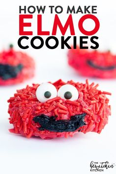 These no bake Elmo Cookies would be great for kids parties, especially a Sesame Street themed birthday or pre school class party!