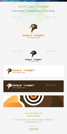 Eagle Target Stock Logo Template — Vector EPS #logo #pictograph • Available here → https://graphicriver.net/item/eagle-target-stock-logo-template-/9161394?ref=pxcr