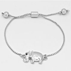 Elephant Bracelet Gorgeous rhodium elephant bracelet - brand new with tag Jewelry Bracelets