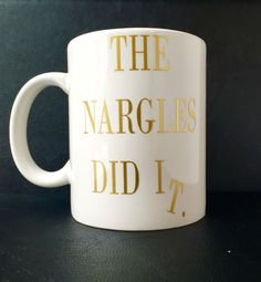 """Harry Potter """"The Nargles Did It"""" Coffee Mug! (Harry Potter Drinkware, Vinyl Decor, Harry Potter Coffee, Harry Potter Decor)"""