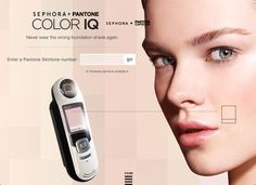 Pantone Color IQ and Sephora Know Your Skin Tone