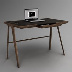 Light, graceful writing desk >>> Maya Desk by Dare Studio