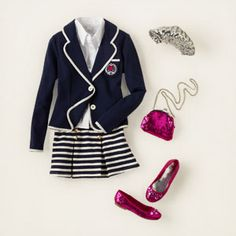 girl - outfits - A+ uniform looks - blazer beauty | Children's Clothing | Kids Clothes | The Children's Place