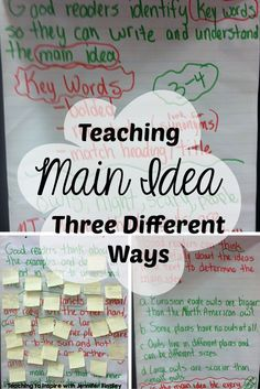 Teaching main idea can be so tricky. Read this post to learn about three differe… Teaching main idea can be so tricky. Read this post to learn about three different ways this fifth grade teacher teaches main idea of informational… Continue Reading → 6th Grade Ela, Third Grade Reading, Middle School Reading, Fourth Grade, Teaching 6th Grade, Elementary Teaching, Student Teaching, Second Grade, Reading Lessons