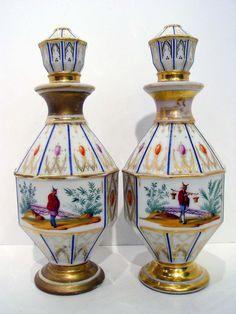 Pair of Jacob Petit Paris Porcelain Chinoiserie Perfume Bottles CA 1870'S | eBay