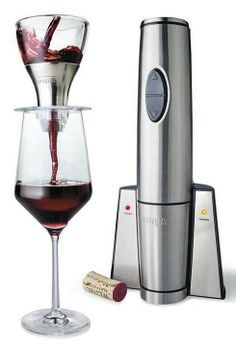 Open and aerate your favorite wines in seconds with this professional quality cordless set.