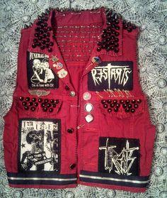 Studed punk vest