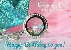 Origami Owl birthday locket