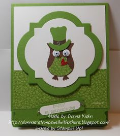 Stamps Well With Others: St. Patrick's Owl Punch Art