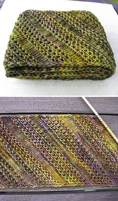 That Nice Stitch - Free Pattern Free Knitting Pattern Loom Knitting, Knitting Stitches, Knitting Patterns Free, Free Knitting, Crochet Patterns, Free Pattern, Intarsia Knitting, Knitting Scarves, Knit Basket