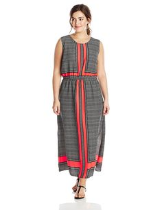 Vince Camuto Women's Plus-Size Crossroad Panel Maxi Dress -- Additional details at the pin image, click it  : Plus size dresses