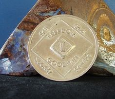 2 Year Narcotics Anonymous Vintage NA Medallion Coin Chip Token