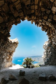 View from The Monolithos Castle, Rhodes, Greece