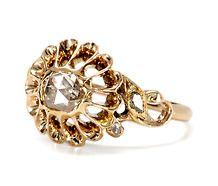 Dance of the Rose Cut Diamond Antique Ring