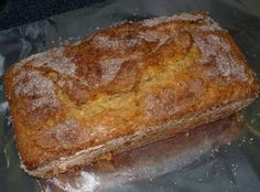Amish Cinnamon Bread... No kneading, you just mix it up and bake it. And no, it does NOT need a starter either.