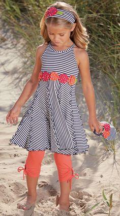 From CWDkids: Flowers & Stripe Dress, Headband, & Purse.