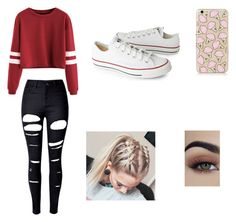 """""""Untitled #57"""" by diamonds-ruby on Polyvore featuring WithChic and Converse"""